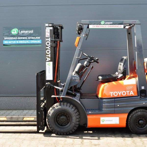 Wózek widłowy używany spalinowy LPG LPG TOYOTA 42-6FGF15