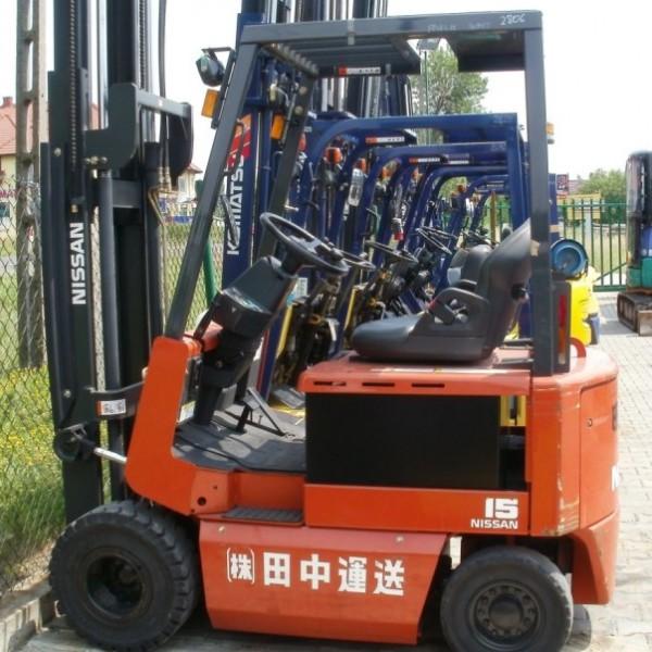 Wózek widłowy używany elektryczny NISSAN FP01L15