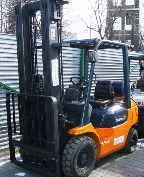 Wózek widłowy używany spalinowy LPG TOYOTA 40-7FGF25