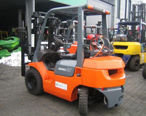 Wózek widłowy używany spalinowy LPG TOYOTA 7FGL20